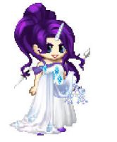 Pixel fancy Rarity/At The Gala by lagoonafan
