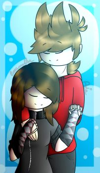Lucy and Tord | Art Request by CaramelTheKangaroo