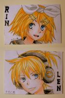 Fanart: Rin and Len, Vocaloid by small-light
