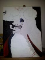 gaga oil painting WIP by FireLioness
