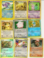 A Few of My Rare Pokemon Cards by Silverfang98