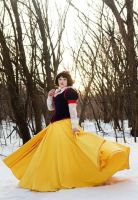 Snow White Cosplay in the woods by KMKostumes