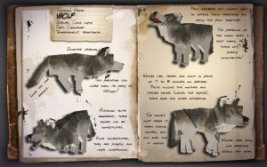 EcoCraft Journal Entry // Gray Wolf by EcoCraftMod