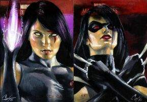 MMI Psylocke and X-23 by gattadonna