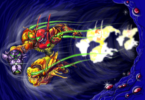 Super Metroid,ShineSpark,Contest17 Samus abilities by Omegachaino
