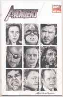 Avengers comic book sketch cover by smoothdaddyride
