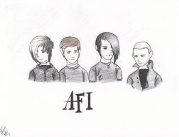 afi color by hardcorerocker117