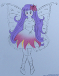 Yuri- flower fairy sketch :c: by izka197