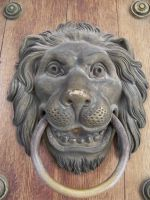 happy lion head door knocker by xxtasiaxx