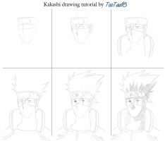 Kakashi drawing tutorial by tootaa18