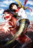 Attack on titan by Rihori