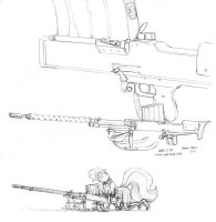 Lahti L-39 20mm study sketches by Baron-Engel