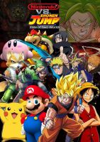 Nintendo vs Shonen Jump by SuperSaiyanCrash