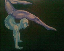 contortion canvas by sugarskull-tattoos