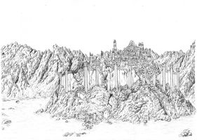 Gondolin in Ruins by neral85