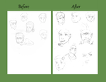Face practice comparison by TheLabBook
