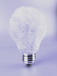 Fuzzy Light Bulb- Blue by ThunderFreak