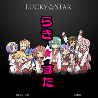 Lucky Star - Anime Icon by duckne55