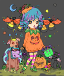 2014 cutie-pie Halloween coloring Contest by fallenmoonmist