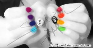 Rainbow Nails by Azrael-Salem