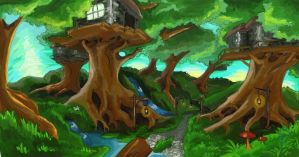 Droginwood Forest by rosedragoness