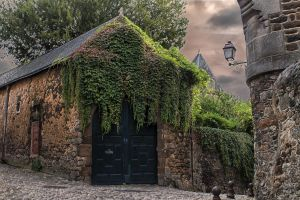 Facade of an old Mans Sarthe France by hubert61