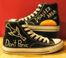 Hitchhiker's Guide Chucks by king--of--hearts