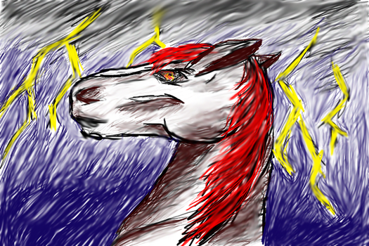 Horse drawed with tablet by Power4Petlove