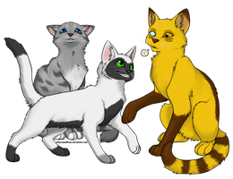 Socializing Cats Commission by creanima
