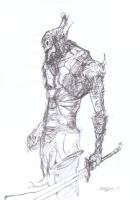 Undead knight by Brollonks