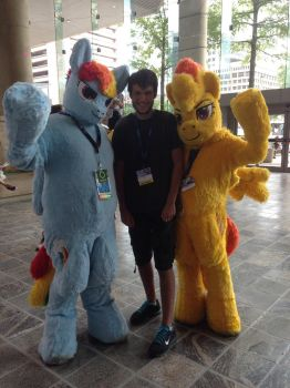 Me with Rainbow and Spitfire by benzombie1