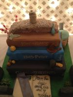 Stack of Books Wedding Cake 9-27-14 by Qess