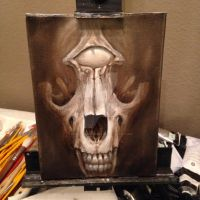 Blind Eye Fox Skull by ethanandersonart