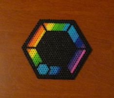 Farla Photon Blast Perler Bead Coaster by monochrome-GS