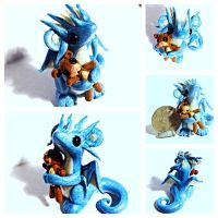 Dragon and his Teddy Bear by LittleCLUUs