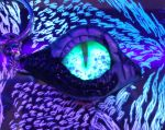 Glow in the Dark Black and Silver Wyvern Eye by RaPVVNzel