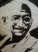 Gandhi with salt by D-pocky