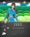 Calendario 2015: Junio. by Lily-de-Wakabayashi