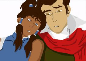 Korra and Mako by Floraski