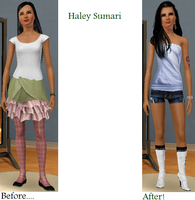 Sims Makeover: Haley Sumari by Soraply11
