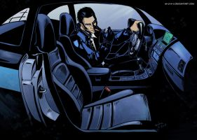 Chris in his car by m-u-h-a