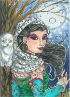 Moon Maiden (ACEO) by Keyshe54