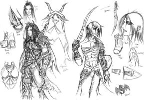 Character Designs Set 1 by valefor