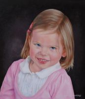 Pretty in Pink - OIL PAINTING by AstridBruning
