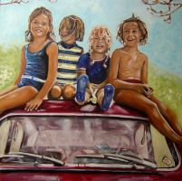 Four Sisters about 1967 by NancyvandenBoom