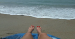 Flip Flop Feet On The Beach by footlover527