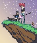 Stars on the Cliff by Projectile-Vomiting