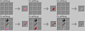 Minecraft Item Ideas - Feathers and Arrows by RedPanda7