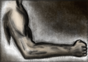 Male Arm - Digital Painting by RicGrayDesign