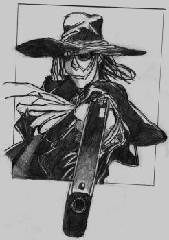 Hellsing Alucard with hat by Wagner1988
